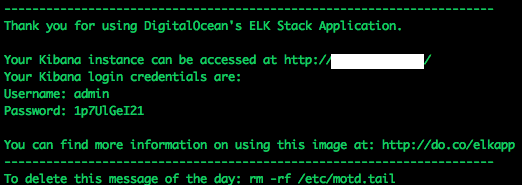 ELK stack message of the day