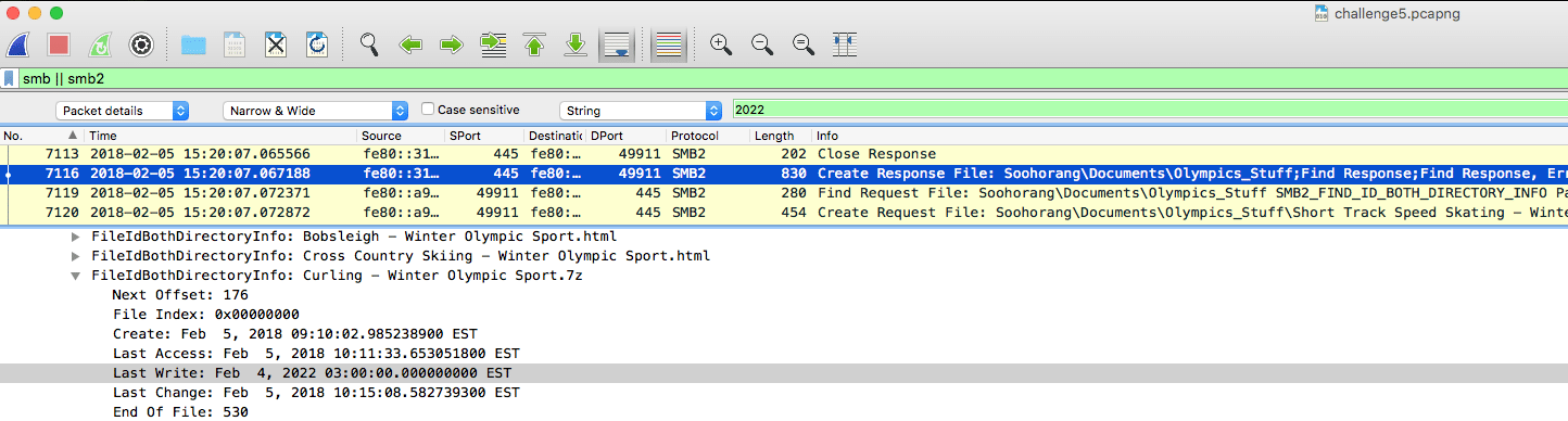 wireshark pcap analysis puzzle 5 Beijing 2022 file modified date