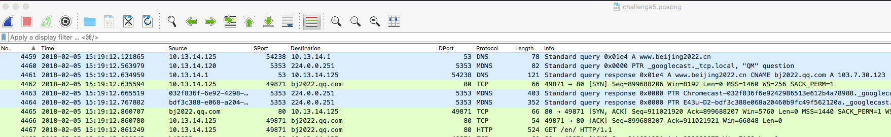 wireshark pcap analysis puzzle 5 Beijing 2022 traffic